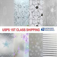 Frosted Cover Glass Window <b>Floral Flower</b> Sticker Film Office Door ...