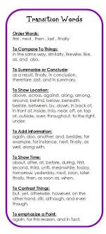 ideas about transition sentences on pinterest  four square  free transition words bookmark  two per page to download from this blog    break this up into separate lessons and let students practice coming up with