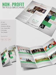 tri fold brochure word pdf psd eps non profit a3 tri fold brochure