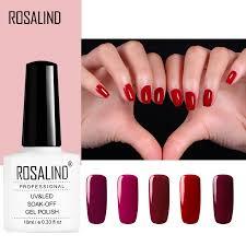 <b>ROSALIND</b> 10ml <b>Red</b> Series gel <b>nail polish</b> Soak-off Long-lasting ...
