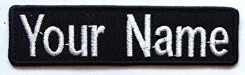 <b>Custom</b> Embroidered Name Tag / Name Tape / <b>Iron On, Sew on</b> ...