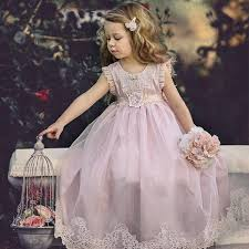 Cheap <b>Pink Tulle</b> Lace Applique Ball Gown <b>Little Girl</b> Dresses ...