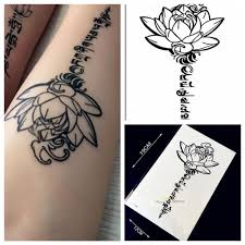 online buy whole tattoo word designs from tattoo word 1pc 3d buddha lotus designs fake waterproof tattoo sticker h36 letter sanskrit tibetan word tattoos men