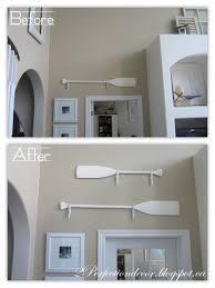 oars wall decor bed