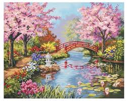 """Dimensions Картина по номерам """"<b>Японский сад</b>"""" 41х51 см (DMS ..."""