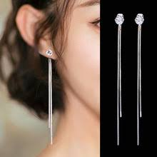 <b>2019 New</b> fashion Dangle Hanging Rhinestone Long Drop <b>Earrings</b> ...