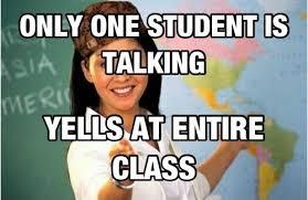 One kid talking | Unhelpful High School Teacher | Know Your Meme via Relatably.com