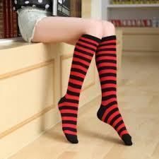 Черно-красные полосатые гольфы короткие - купить в интернет ...
