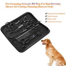 <b>7Pcs Pet</b> Grooming Scissors Kit <b>Dog Cat</b> Hairdressing Shears Set