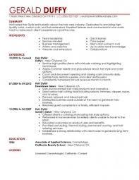 hair stylist resume   best resume collectionhair stylist resume