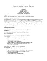 actuary cover letter actuary resume actuary resume exampl entry resume actuary