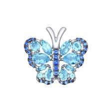 <b>Подвеска</b> в виде <b>бабочки</b> из серебра арт. 92030402 от <b>SOKOLOV</b>