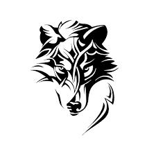 <b>Creative Abstract Wolf</b> Predator Ornament Head Car Sticker Laptop ...