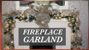 How To <b>Decorate</b> A Christmas <b>Garland</b> With <b>Deco</b> Mesh ...