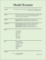 model resume example info model resume template model of resume modeling resume curriculum