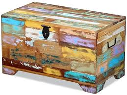Storage Chest Solid Reclaimed Wood: Kitchen & Dining - Amazon.com
