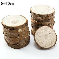50 pcs Eco friendly <b>Natural Round</b> Slice Crafts with <b>Laser Cut</b> Logo ...