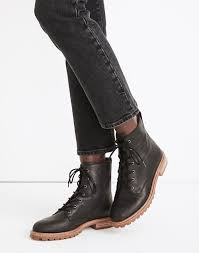 The Clair <b>Lace</b>-<b>Up</b> Boot in Leather