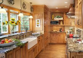 knotty pine kitchen in kitchen traditional with granite copper animal hide rugs home office traditional