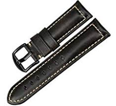 maikes 16mm 18mm 20mm 22mm genuine leather watch band high quality thin red strap