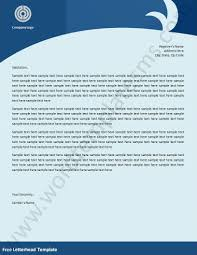 letterhead template page word excel formats related