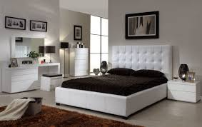 furniture awesome white queen size bedroom sets including leather bed frame ikea also tufted headboard nearby brown leather bedroom furniture