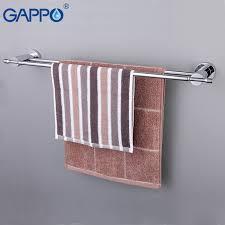 GAPPO Wall Mounted <b>Towel Bar Brass Towel Rack Bathroom</b> Towel ...