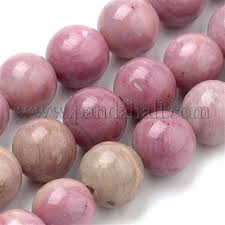 Wholesale Natural Rhodochrosite Beads Strands, Round, <b>6mm</b> ...