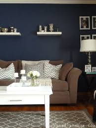 gasp these colors except i would want backward the tan on the wall and the couch in navy blue decorate the homefor the homehomehouseideas for our brown furniture wall color