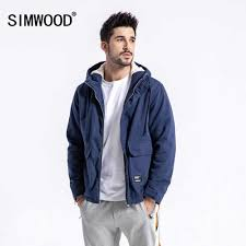 SIMWOOD Brand <b>Winter Jacket</b> Men Casual Slim Fit Thick Coats ...
