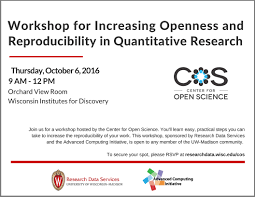 workshop for increasing openness and reproducibility in workshop for increasing openness and reproducibility in quantitative research