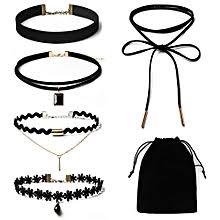 Buy <b>Fashion 5Pieces</b> Choker <b>Necklace</b> Set - Black online   Jumia ...