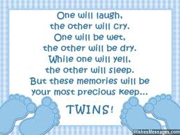 Congratulations for Having Twins: Newborn Baby Card Wishes ...
