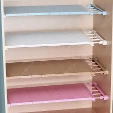 Adjustable Closet Organizer Storage Shelf Wall Mounted Kitchen ...