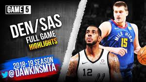 Denver Nuggets vs San Antonio Spurs Full Game Highlights | Game ...
