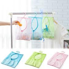 <b>Practical</b> Hanging Storage Mesh Bags Bathroom Kitchen ...