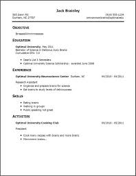 sample college student resume with no work experience     resume no work experience child actor resume sample
