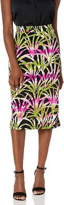 Kasper <b>Women's</b> Tropical <b>Leaves Printed Knit</b> Skirt at Amazon ...