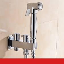 Toilet Brass <b>Hand Held</b> Bidet Spray <b>Shower Head Douche</b> Kit Shatta ...