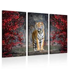 Kreative Arts <b>Large Size</b> 3 Piece Canvas <b>Wall Art</b> Painting Tiger ...