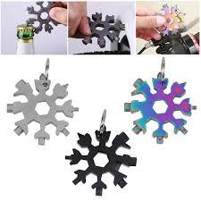 <b>Portable Snow</b> Keychain tools <b>Snowflake</b> shape wrench <b>multi</b> ...