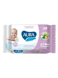 <b>AURA Салфетки влажные детские</b> Ultra Comfort Алоэ и витамин ...