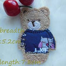 FairyTeller Toy <b>Bear Patch</b> Hot Melt Adhesive <b>Clothing</b> Patch 1Pcs ...