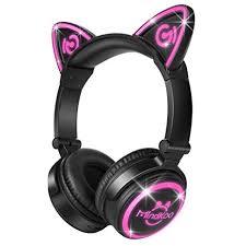 MindKoo Cat Style Wireless <b>Headphones</b>, Over Ear <b>Bluetooth</b> ...