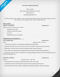 sample resume for college students   easy resume samples     sample resume for college students