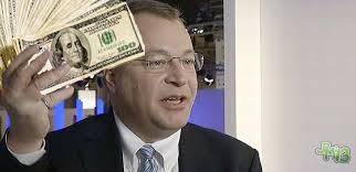 "Stephen Elop scored a ""fat wad of cash"" for delivering Nokia into the hands of his former employer -- and now ""new"" employer -- Microsoft. - Stephen_Elop_Microsoft_Money_Wide"