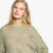 Пуловер ажурный с круглым вырезом <b>La Redoute</b> Collections | La ...