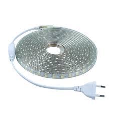 1-15M <b>SMD 5050 AC</b> 220V led strip flexible light + Eu Power Plug ...