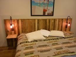 pallet wooden headboard with lights bedroom headboard lighting