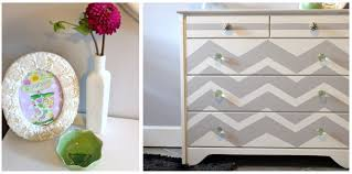 remodelaholic chevron painted dresser makeover chevron painted furniture